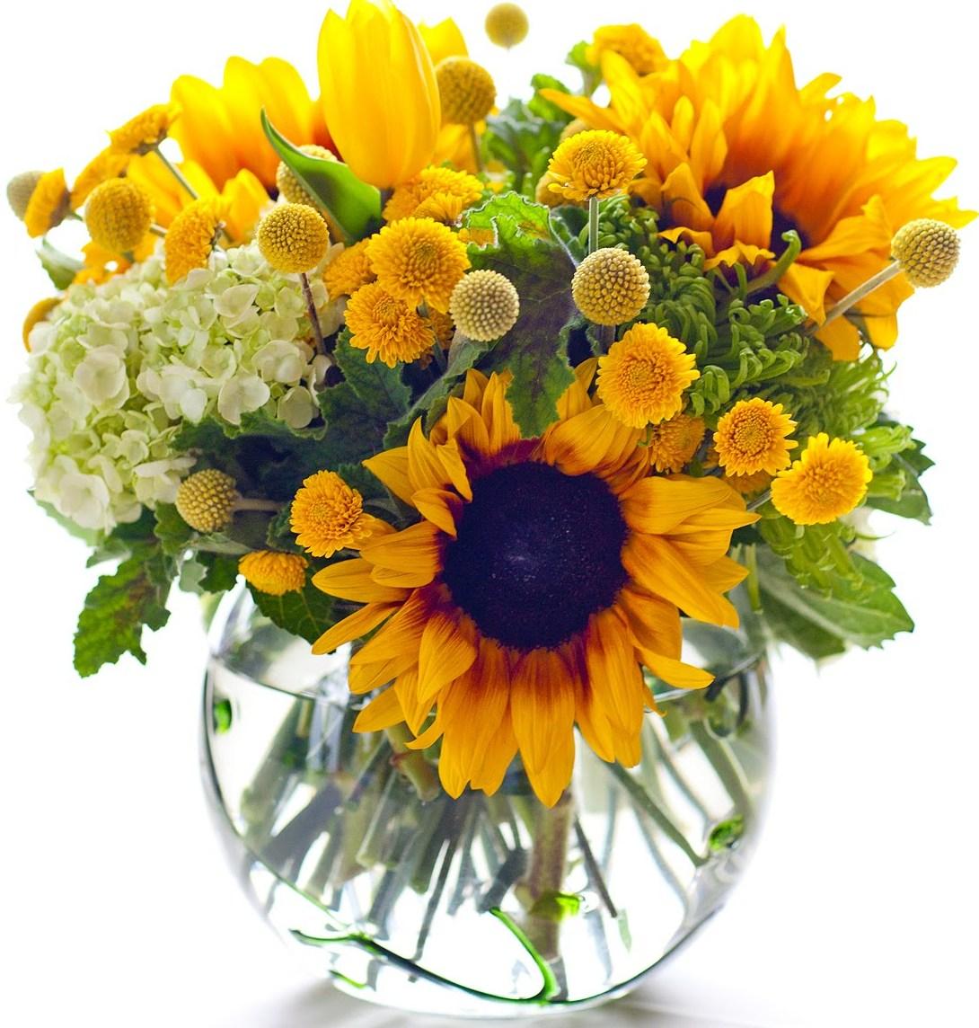 Tampungan Sunflower (Bunga, Buket, Kue-Permen & Card)
